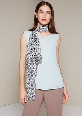 Simple top in an exciting mix of fabrics from s.Oliver