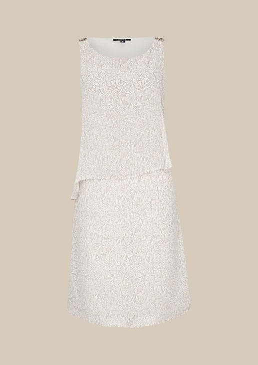 Delicate crêpe dress in a layered look from s.Oliver
