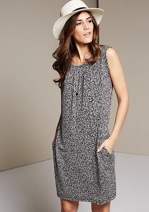 Ärmelloses Jerseykleid mit schönem Alloverprint