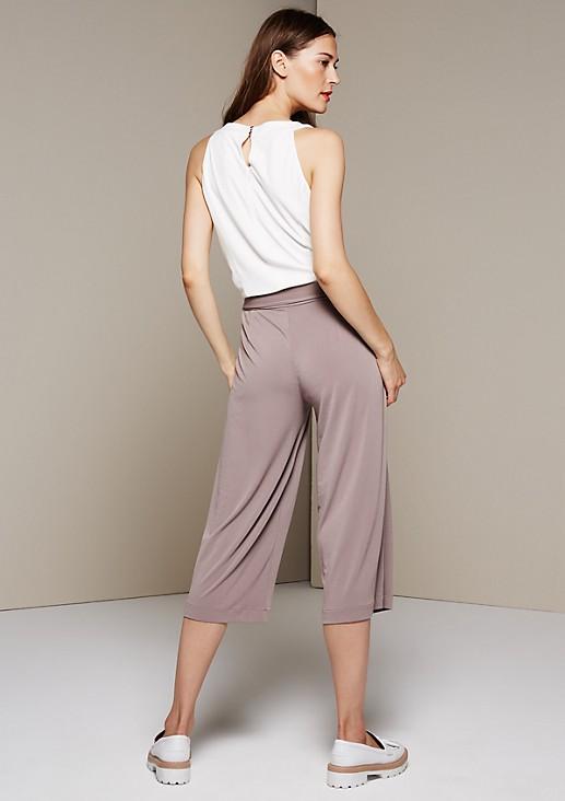 Extravaganter Krepp-Jumpsuit in Two-Tone Optik mit 3/4-Beinlänge
