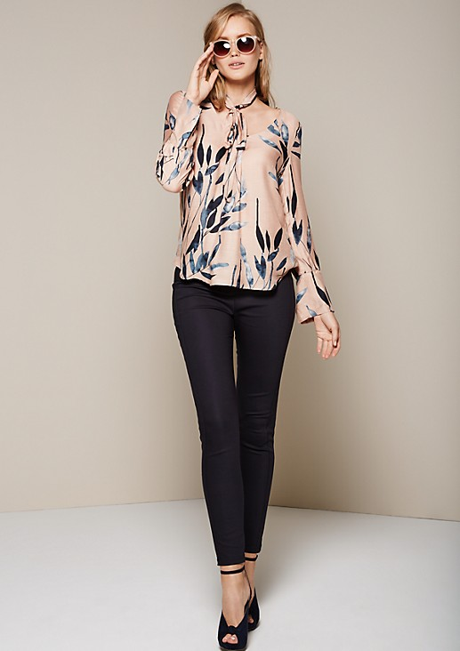 Casual long sleeve blouse with a fabulous all-over print from s.Oliver