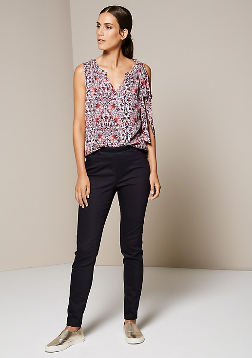 Casual blouse top with a pretty all-over print from s.Oliver