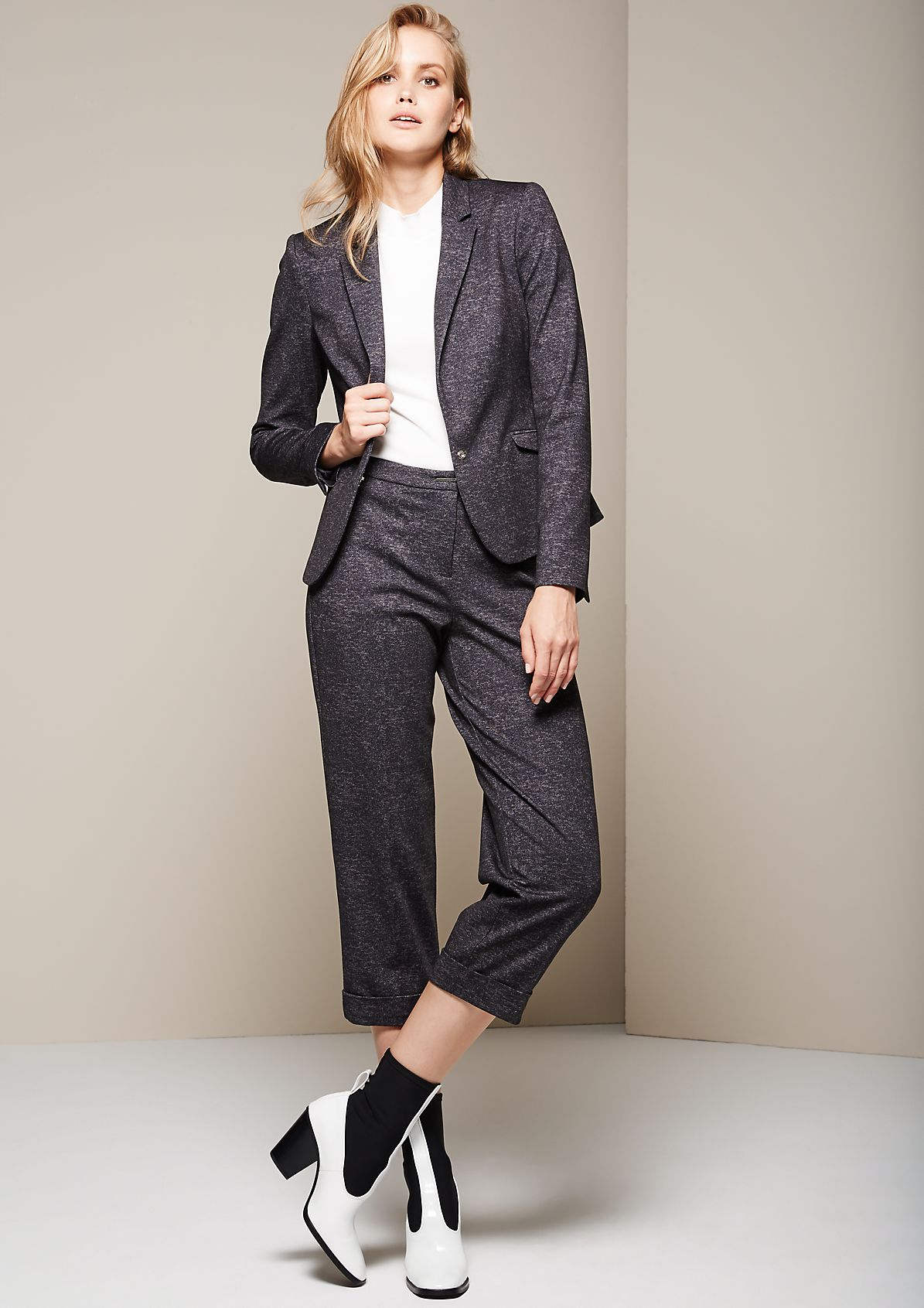 Elegant blazer with a beautiful mottled finish from s.Oliver