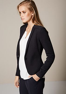 Fine blazer with an attractive jacquard pattern from comma