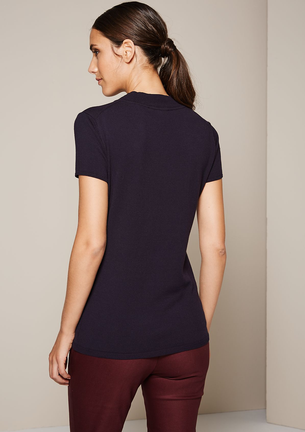 Beautiful short sleeve knit jumper with fine details from s.Oliver