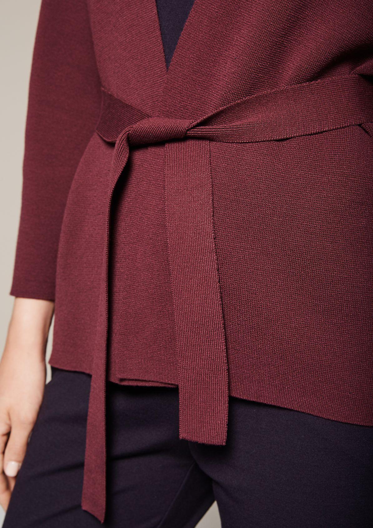 Lässige Strickjacke mit Gürtel