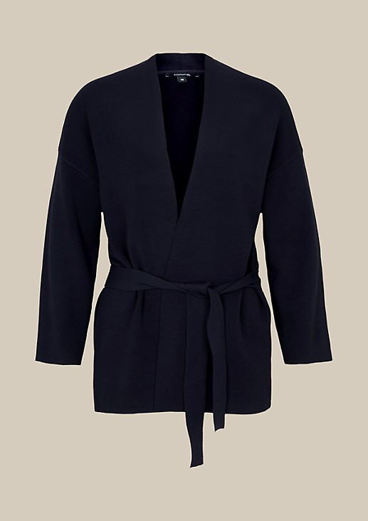 Casual cardigan with a belt from s.Oliver