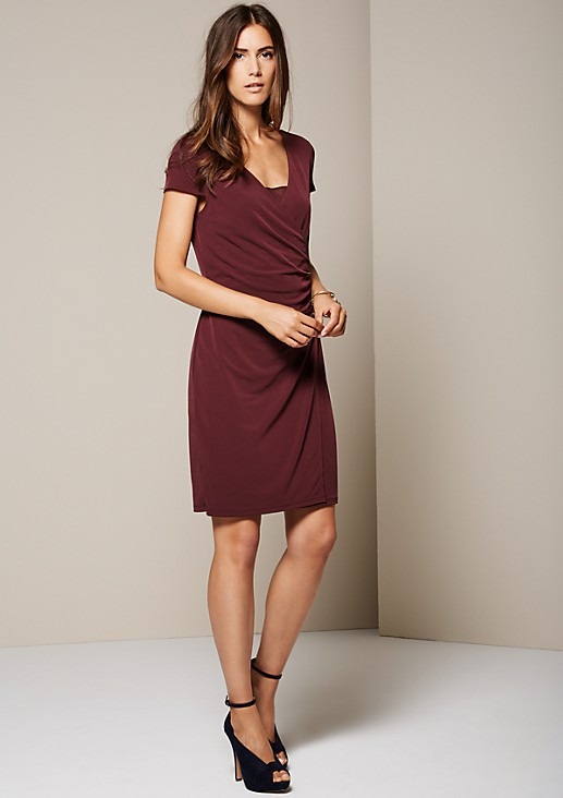 Lightweight jersey dress with sophisticated details from s.Oliver