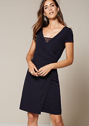 Lightweight jersey dress with sophisticated details from comma