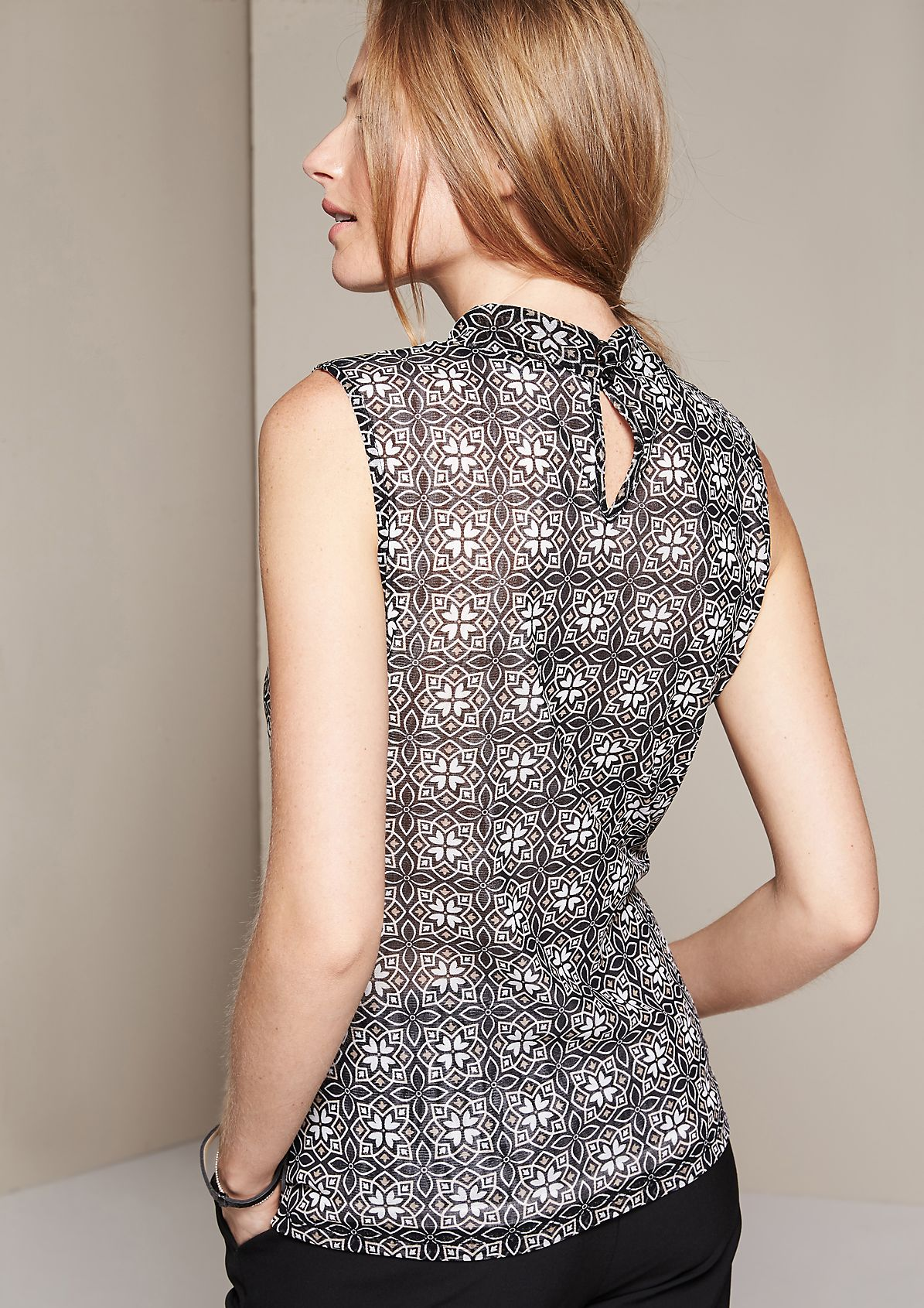 Delicate mesh top with an exciting all-over print from s.Oliver