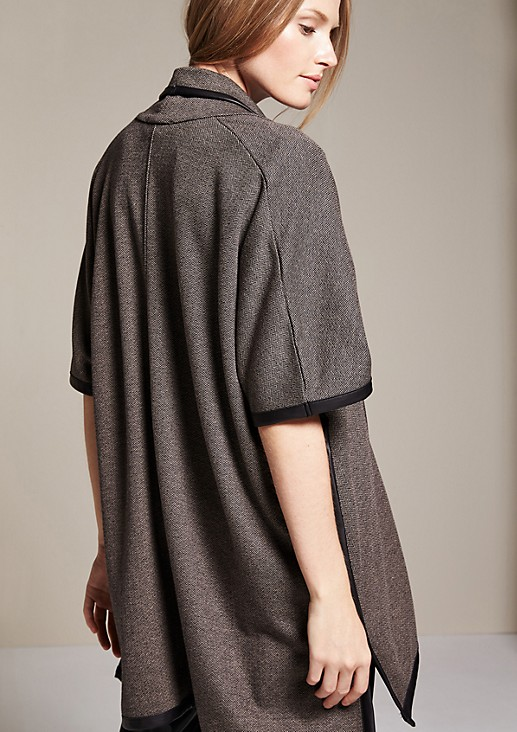 Sophisticated poncho in a tweed finish from s.Oliver