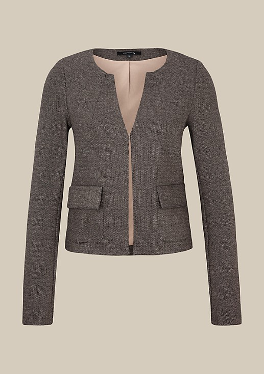 Elegant blazer with a tweed finish from s.Oliver