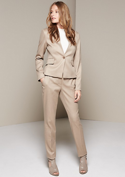 Elegant business blazer with a dobby pattern from comma