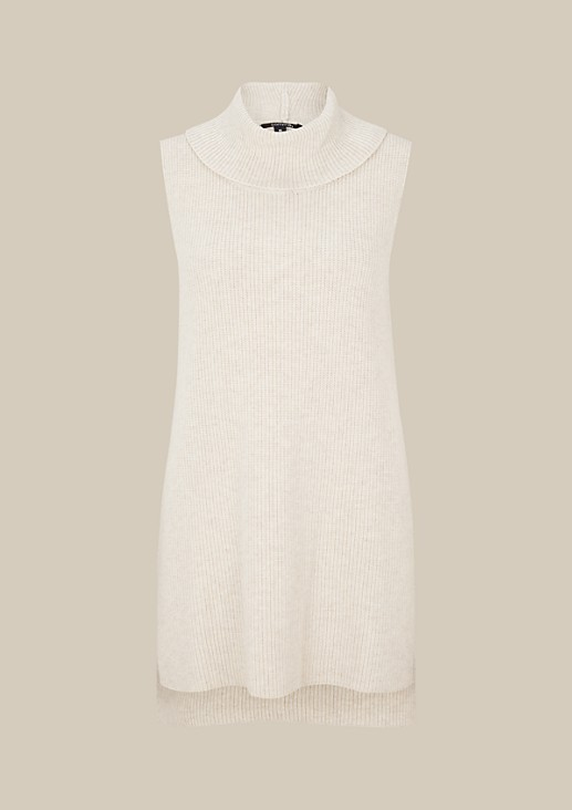 Beautiful rib knit long tank top with a polo neck from s.Oliver