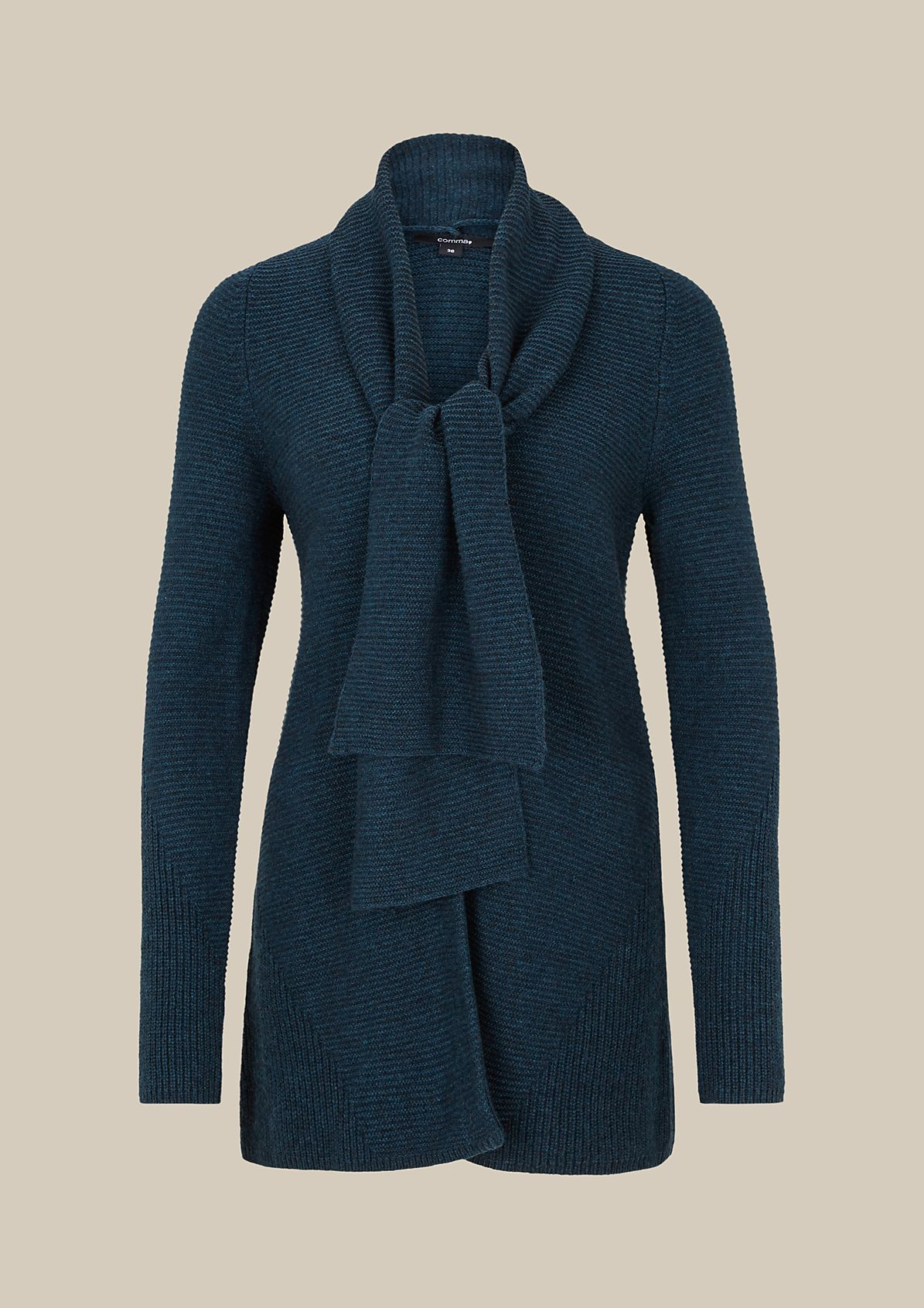 Casual cardigan with a ribbed finish from s.Oliver