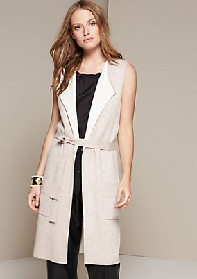 Soft long waistcoat with a belt from s.Oliver