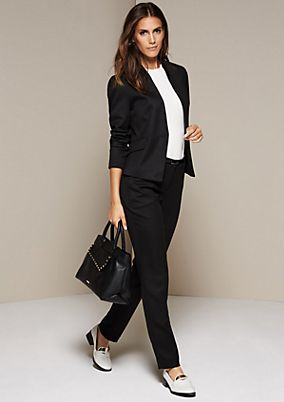 Elegant business pants with a fine dobby pattern from comma