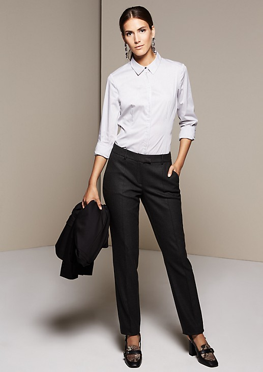 Classic shirt blouse with sophisticated details from s.Oliver