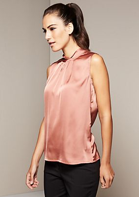 Extravagant satin top with exciting details from s.Oliver