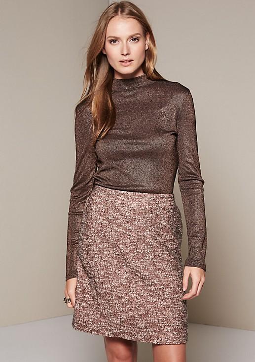 Glamorous long sleeve top in glittering effect yarn from comma