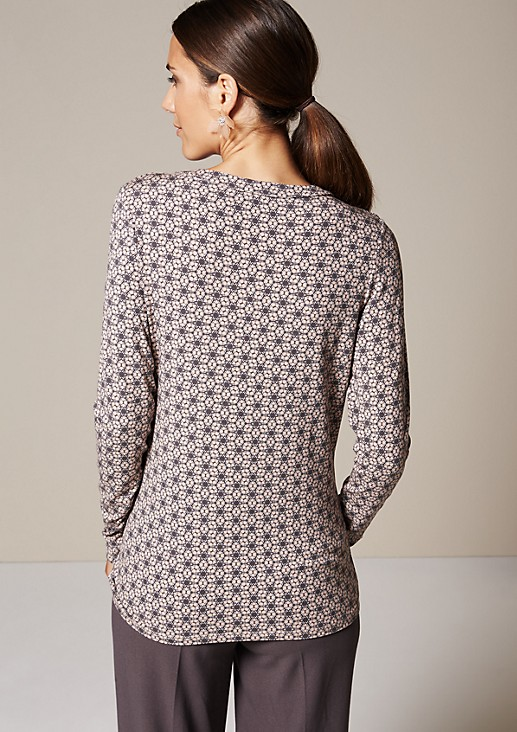 Smart long sleeve jersey top with a decorative all-over print from comma