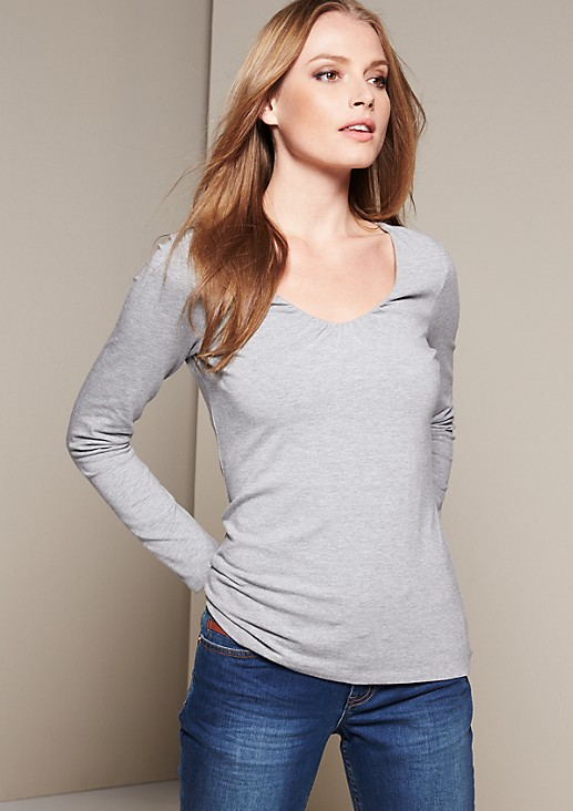 Casual long sleeve jersey top with lovely details from s.Oliver