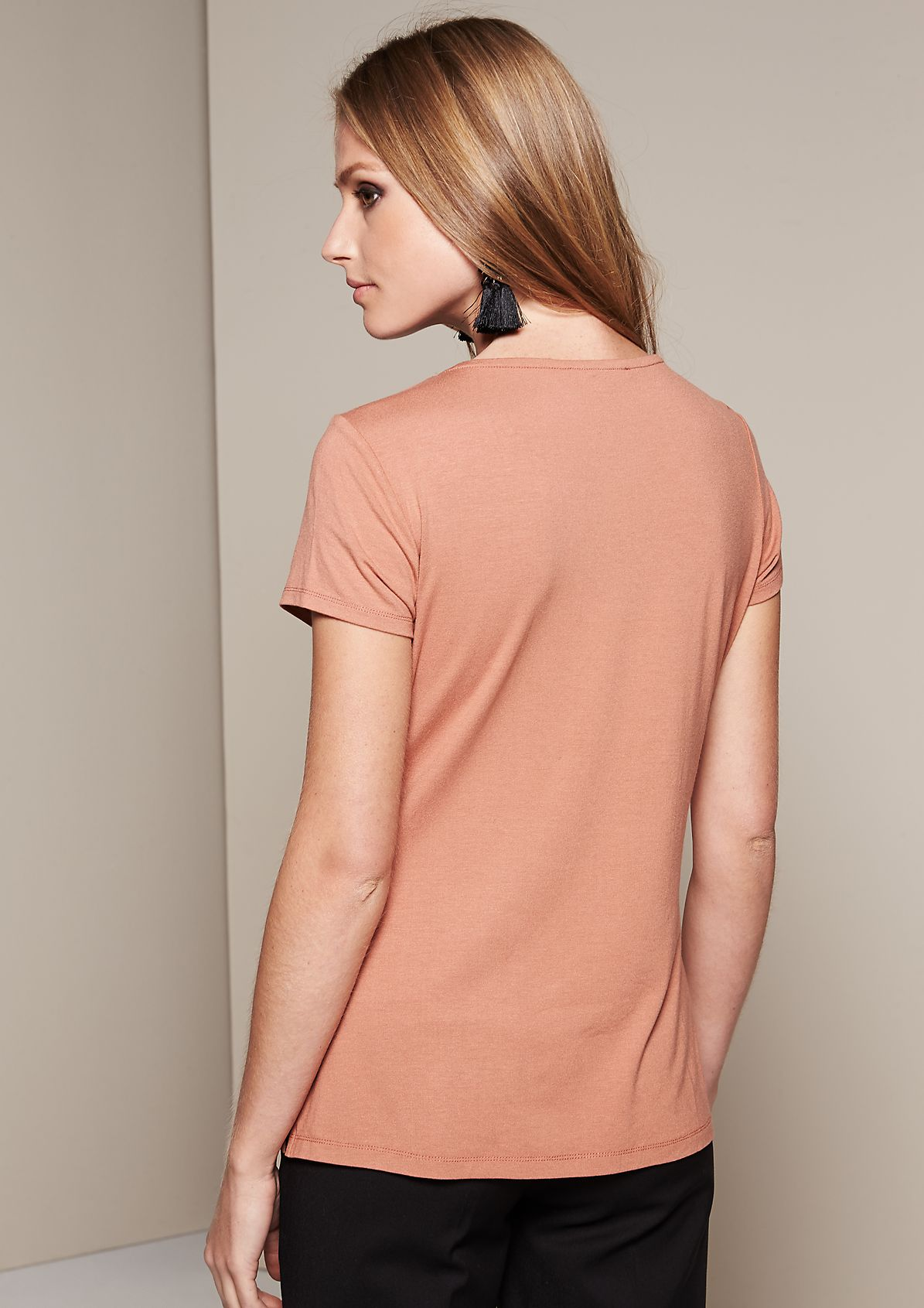 Elegant top in a sophisticated fabric mix from comma