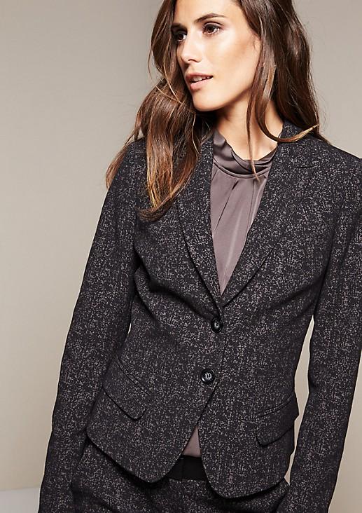 Feminine blazer with a distinctive jacquard pattern from comma