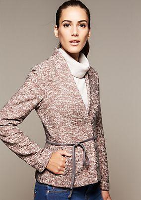 Elegant blazer with a narrow belt from comma