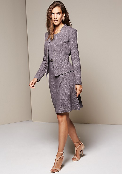 Beautiful blazer with a decorative all-over pattern from comma