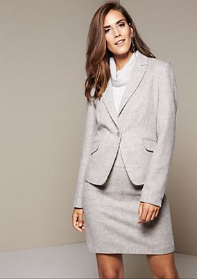 Extravagant blazer in a wool look from comma