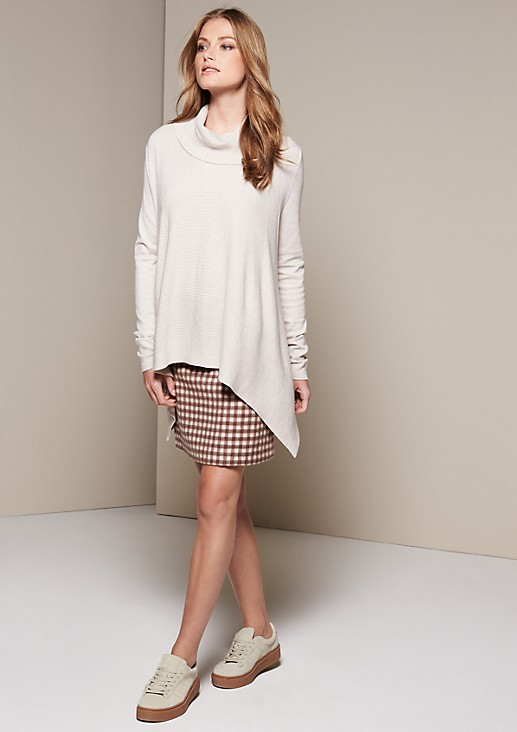 Casual knit jumper in a mix of patterns from comma
