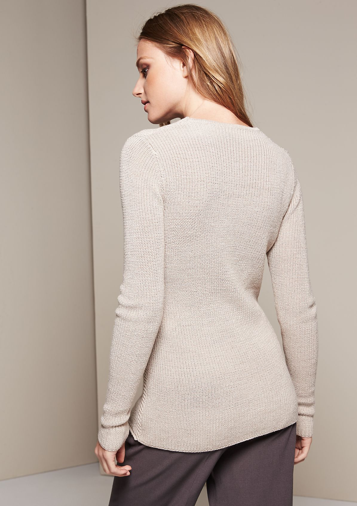 Feminine knit jumper with a beautiful pattern from s.Oliver