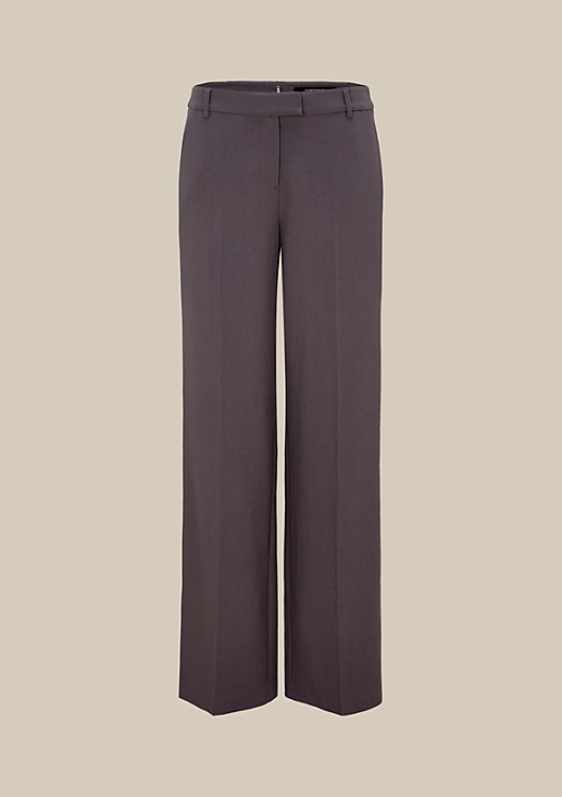 Elegant crêpe trousers with sophisticated details from s.Oliver