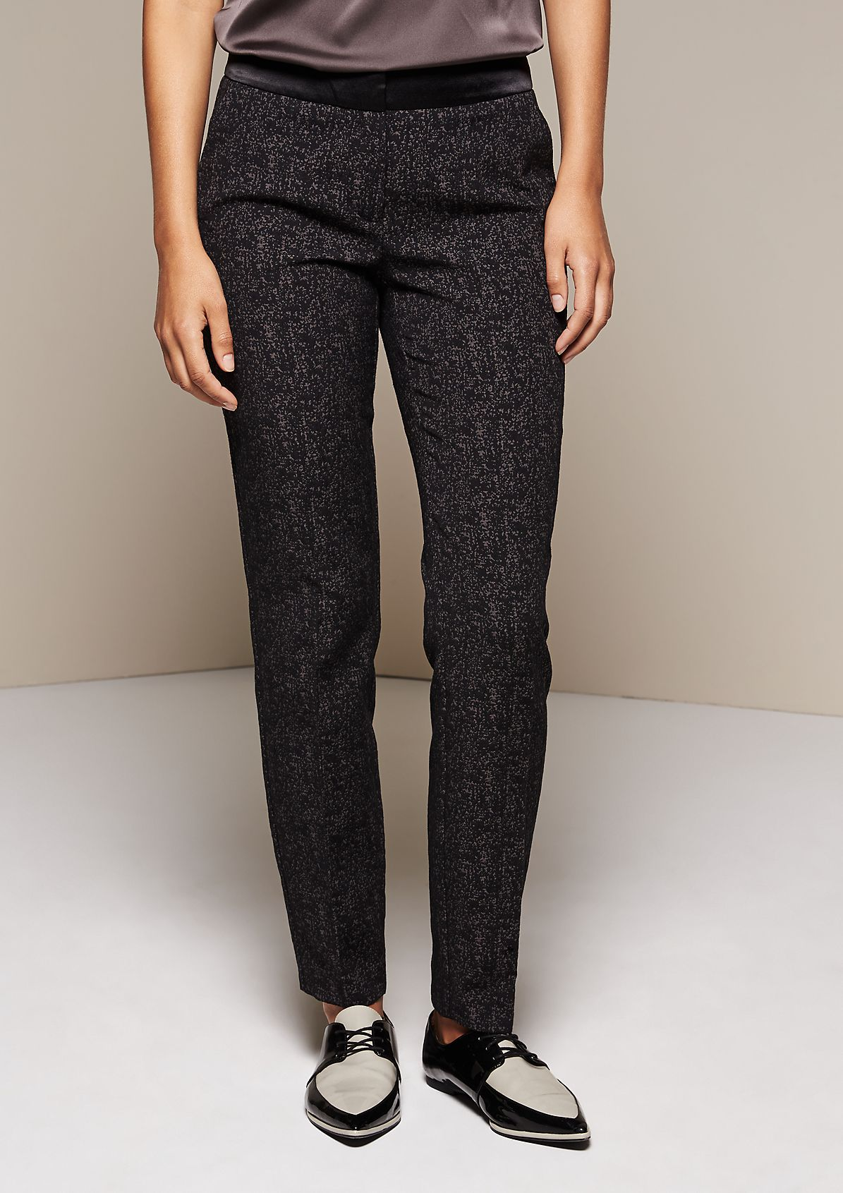 Elegant business trousers with a jacquard pattern from s.Oliver