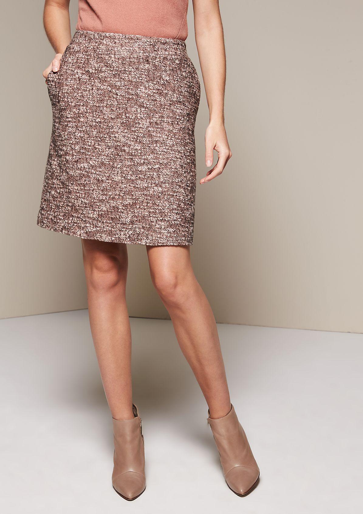 Elegant short skirt in a melange look from comma