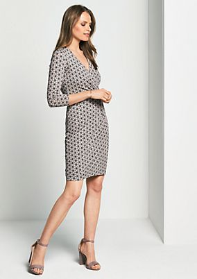 Beautiful casual dress with 3/4-length sleeves from comma
