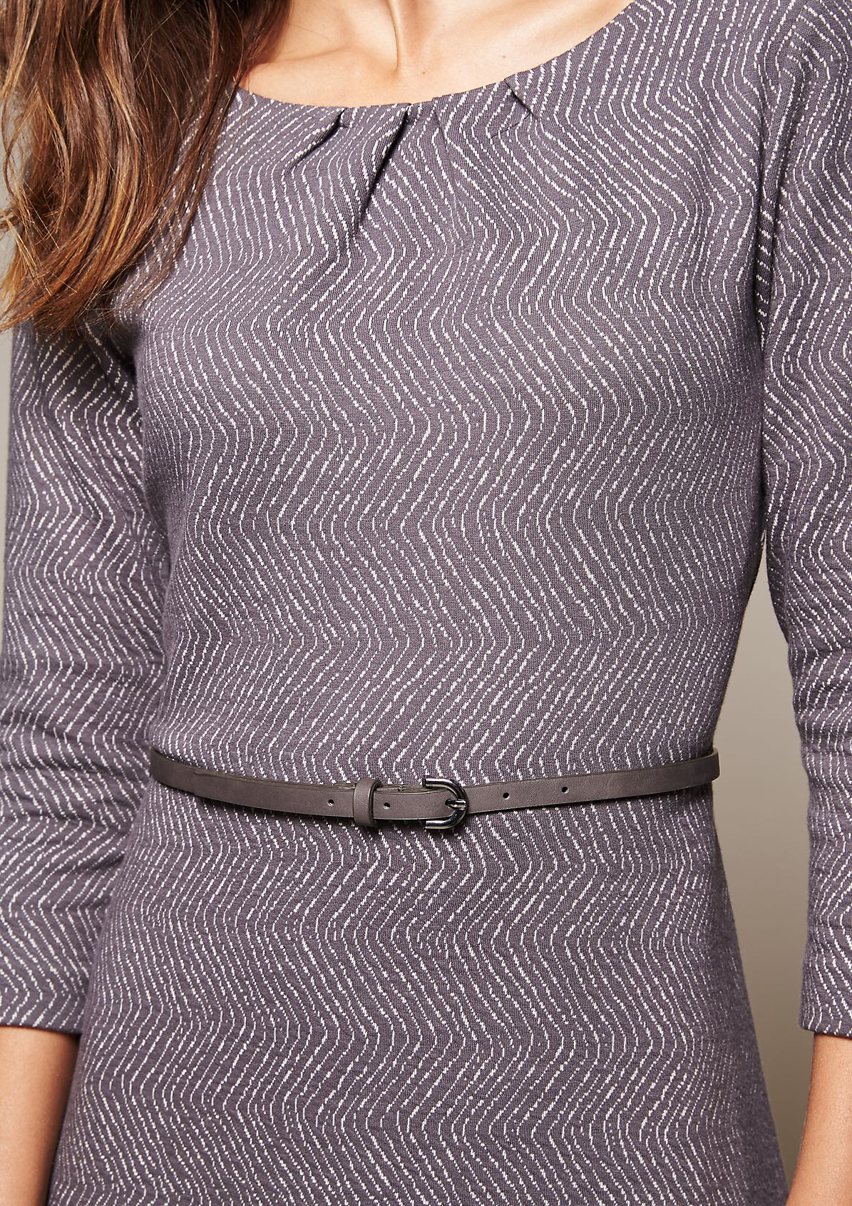 Elegant three-quarter sleeve dress with a decorative pattern from s.Oliver