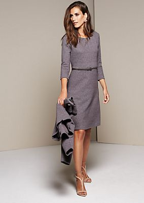 Elegant three-quarter sleeve dress with a decorative pattern from comma