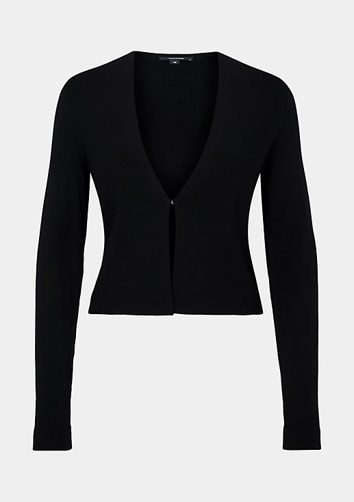 Short fine knit cardigan with long sleeves from s.Oliver