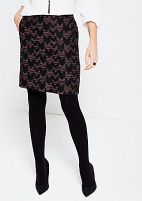 Short skirt with a decorative pattern from s.Oliver