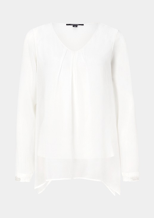 Elegant long sleeve blouse with great attention to detail from s.Oliver