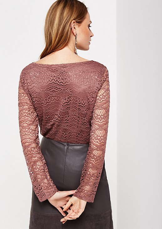 Extravagantes Langarmshirt aus edler Spitze