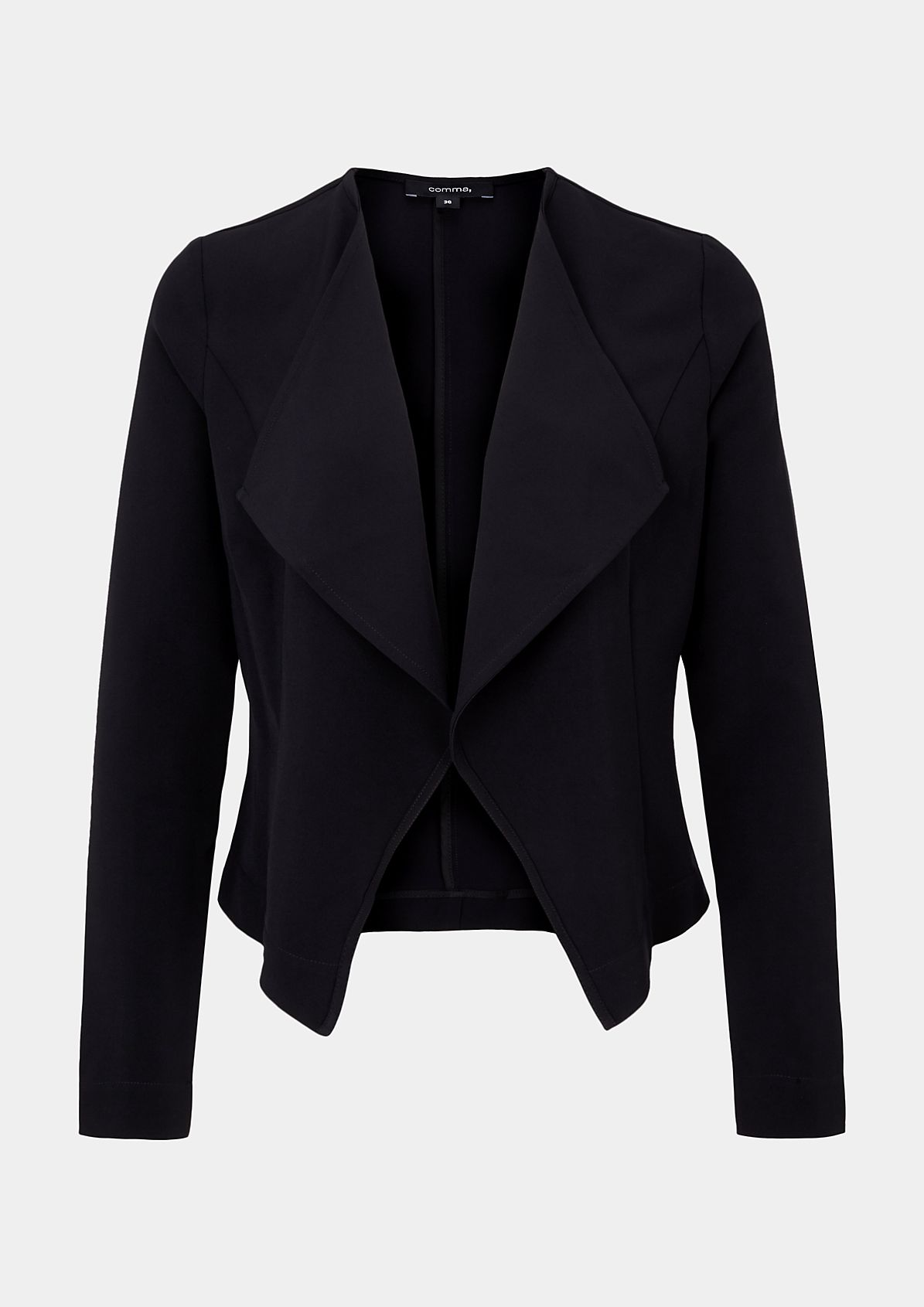 Elegant short blazer with a shawl collar from s.Oliver