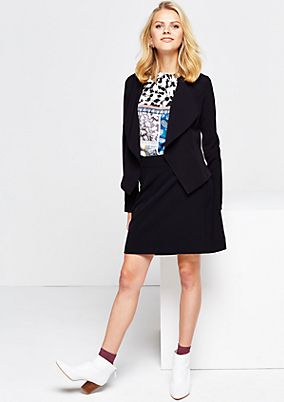Elegant short blazer with a shawl collar from comma