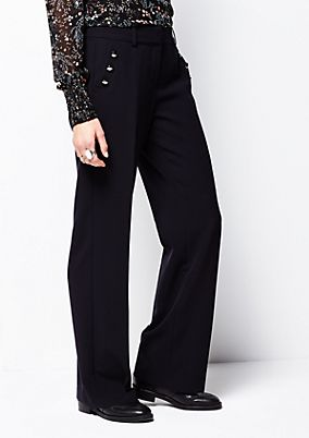 Extravagant business trousers with great details from s.Oliver