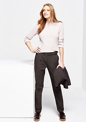 Beautiful business trousers with sophisticated details from comma