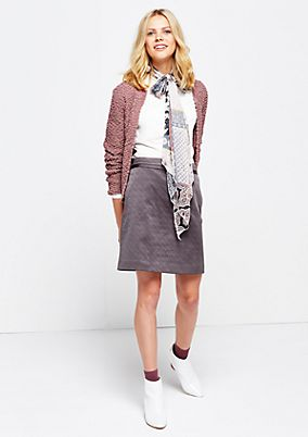 Elegant mini skirt with a fine jacquard pattern from s.Oliver