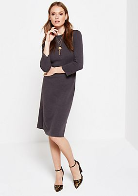 Soft sheath dress with a filigree textured pattern from comma