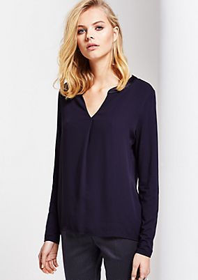 Fine long sleeve top in a mix of materials from s.Oliver